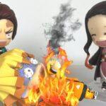 燃える善逸と笑う禰豆子?鬼滅の刃ねんどろいど【コマ撮り】 #242 Kimetsu no Yaiba Nendoroid