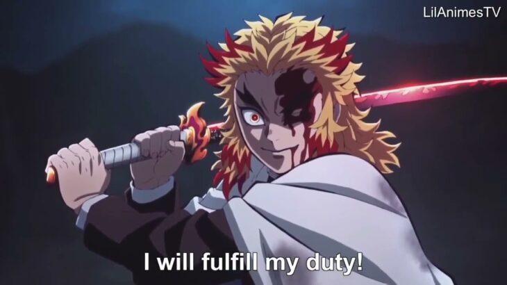 【鬼滅の刃】無限列車編 煉獄VS猗窩座の戦い Rengoku vs Akaza, Full Fight   Kimetsu no Yaiba The Movie Mugen Train Engsub