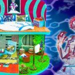 【鬼滅の刃】💖 猗窩座の家をDIY✨寝室、リビングルームと庭がある手作りの素晴らしい猗窩座の家🍭 ✨猗窩座の夢の家✨#20