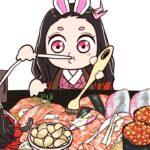 鬼滅の刃 / 귀멸의 칼날 네즈코 대장장이 / 연어초밥 애니 먹방 / Demon Slayer Nezuko Mukbang Animation