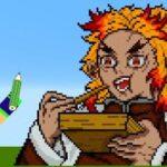 【鬼滅の刃】マイクラで「煉獄杏寿郎」描いてみた