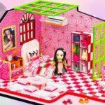 【鬼滅の刃2期】ネズコのミニチュアクラフトハウス💖 ネズコのためにDIY人形寝室 💖 ネズコのベッド、ピアノ、ティーテーブルは手作りです【Kimetsu no Yaiba】『鬼滅の刃』 #11