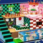 【鬼滅の刃】最も美しいクラフトルーム💖 タンジロウとネズコのカップルのための水槽付きつきDIY2階建て人形部屋 💖 きめつのベッド、小物を手作り工作【Kimetsu no Yaiba】#9