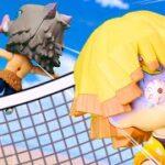【鬼滅の刃】 Kimetsu No Yaiba 炭治郎と善逸がココナッツボレーボールのマタチで伊之助を倒すために