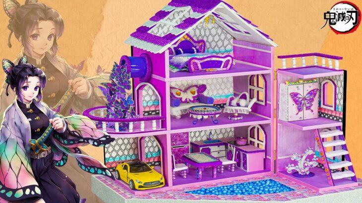 【鬼滅の刃2期】 胡蝶 しのぶ   💖しのぶのためのDIY可愛い紫色のドールハウス  💖 【Kimetsu no Yaiba】鬼滅の刃