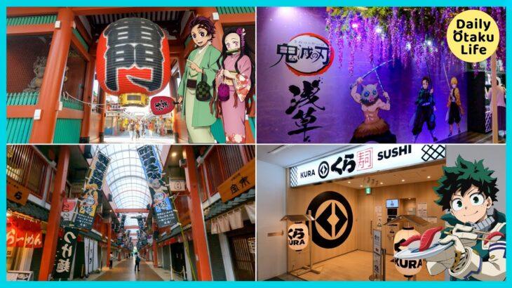 【浅草】鬼滅の刃の浅草コラボ&ヒロアカコラボ中のくら寿司に行ってきた |  Demon Slayer Shop & My Hero Academia SUSHI in ASAKUSA
