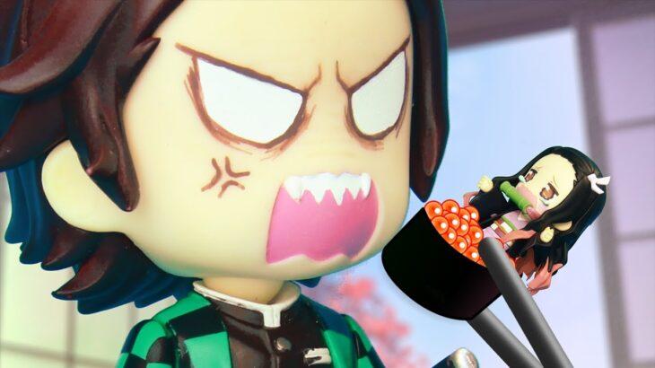 【鬼滅の刃】 Kimetsu No Yaiba 伊之助、必死に食わず嫌いを克服するも