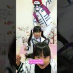 鬼滅の刃ごっこ! 猗窩座パパとヴィエ踊ってみた😂 まりちゃんいずちゃんチャンネル #shorts