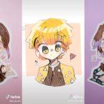 ティックトック絵 | 鬼滅の刃イラスト – Kimetsu no Yaiba Painting TikTok Awesome #1310